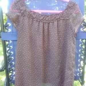Women's feminine ruched collar blouse